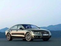 На Audi A7 пружины с занижением, спортивная регулируемая подвеска