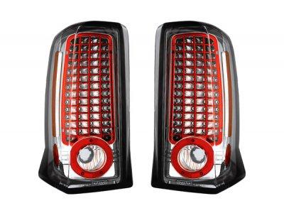 Задние фонари LED Chrome на Cadillac Escalade II