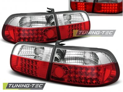 Задние фонари LED Red Crystal от Tuning-Tec на Honda Civic V 3D