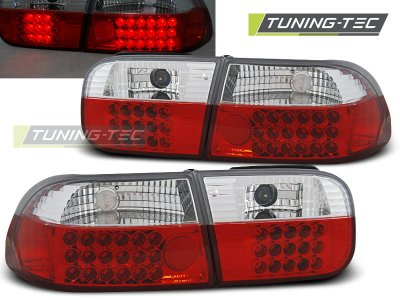Задние фонари LED Red Crystal от Tuning-Tec на Honda Civic V 2D / 4D