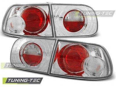 Задние фонари Chrome от Tuning-Tec на Honda Civic V 3D