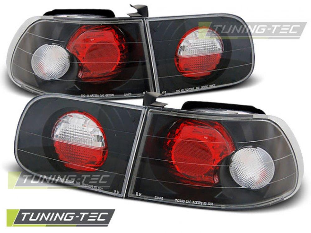 Задние фонари Black от Tuning-Tec на Honda Civic V 3D