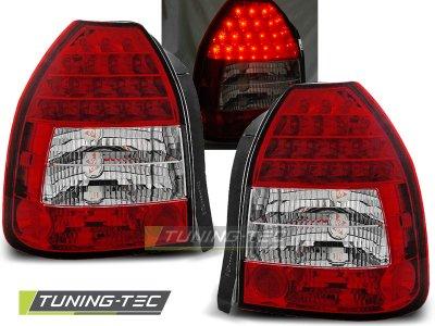 Задние фонари LED Red Crystal от Tuning-Tec на Honda Civic VI 3D