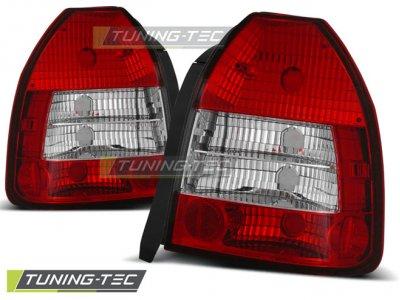 Задние фонари Red Crystal от Tuning-Tec на Honda Civic VI 3D