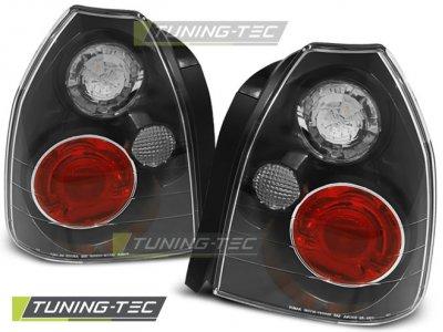 Задние фонари Black от Tuning-Tec на Honda Civic VI 3D