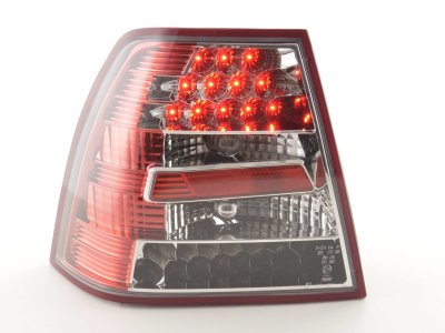 Задние фонари от FK LED Red Crystal на Volkswagen Bora 4D