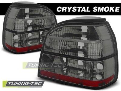 Задние фонари Crystal Smoke от Tuning-Tec на Volkswagen Golf II