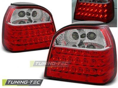 Задние фонари LED Red Crystal от Tuning-Tec на Volkswagen Golf III
