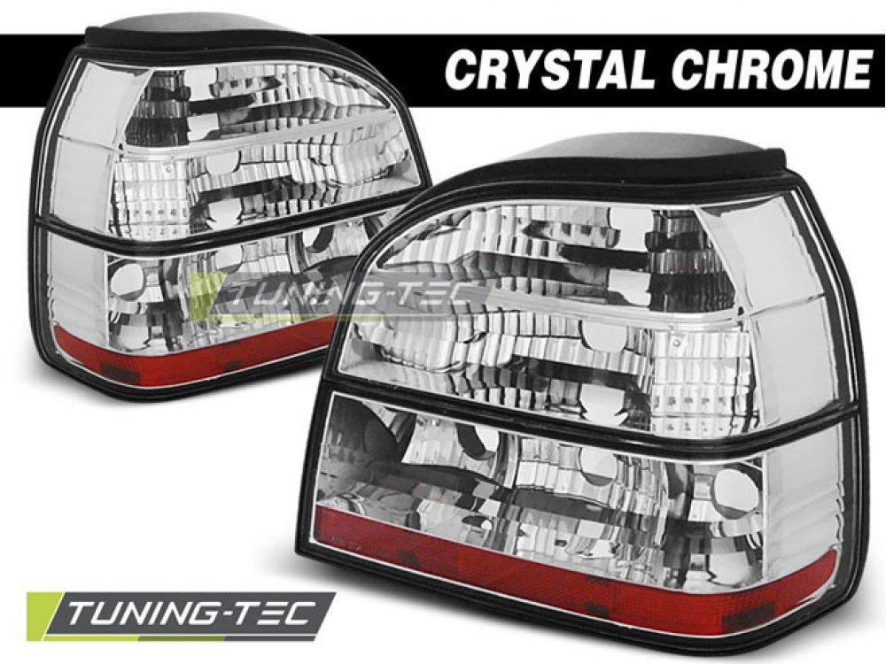 Задние фонари Crystal Chrome от Tuning-Tec на Volkswagen Golf III