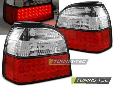 Задние фонари LED Red Crystal V3 от Tuning-Tec на Volkswagen Golf III