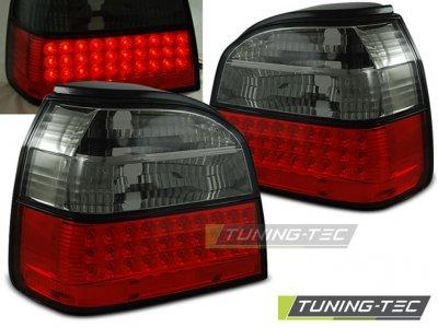 Задние фонари LED Red Smoke от Tuning-Tec на Volkswagen Golf III