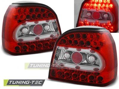 Задние фонари LED Red Crystal Var2 от Tuning-Tec на Volkswagen Golf III