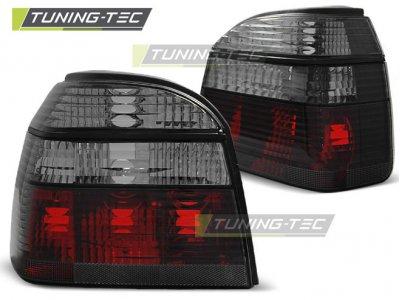 Задние фонари Red Smoke Var2 от Tuning-Tec на Volkswagen Golf III