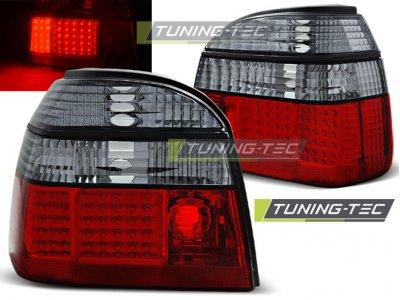 Задние фонари LED Red Smoke Var2 от Tuning-Tec на Volkswagen Golf III
