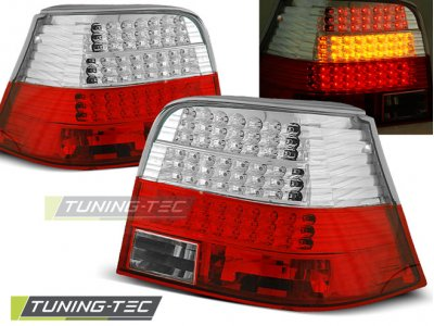 Задние фонари LED Red Crystal Var2 от Tuning-Tec на VW Golf IV