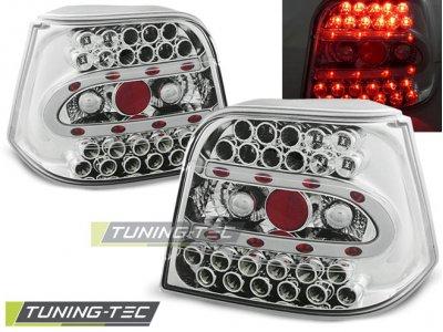 Задние фонари LED Chrome Var2 от Tuning-Tec на VW Golf IV