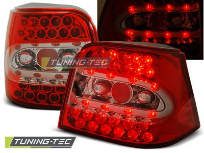 Задние фонари LED Red Crystal V3 от Tuning-Tec на VW Golf IV
