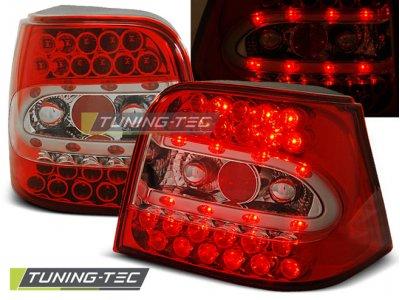 Задние фонари LED Red Crystal V3 от Tuning-Tec на VW Golf IV