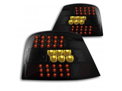 Задние светодиодные фонари чёрные на Volkswagen Golf IV