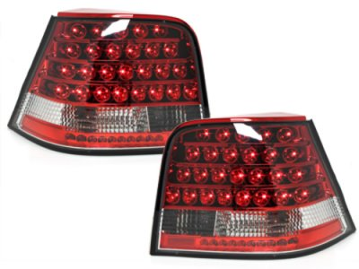 Задние фонари LED Red Crystal Var2 на Volkswagen Golf IV