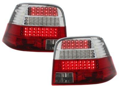 Задние фонари LED Red Crystal V3 на Volkswagen Golf IV
