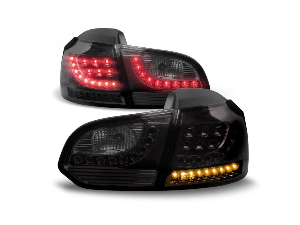 Задние фонари Jom LED Black на Volkswagen Golf VI