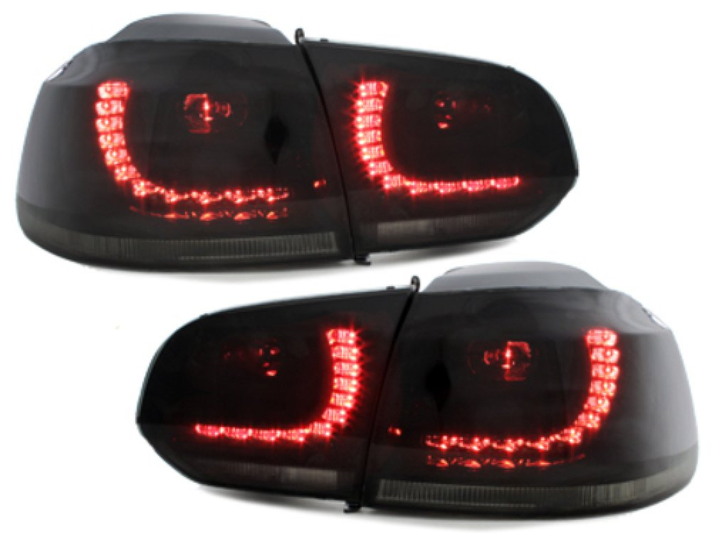 Задние фонари R-Look LED Black Smoke на Volkswagen Golf VI