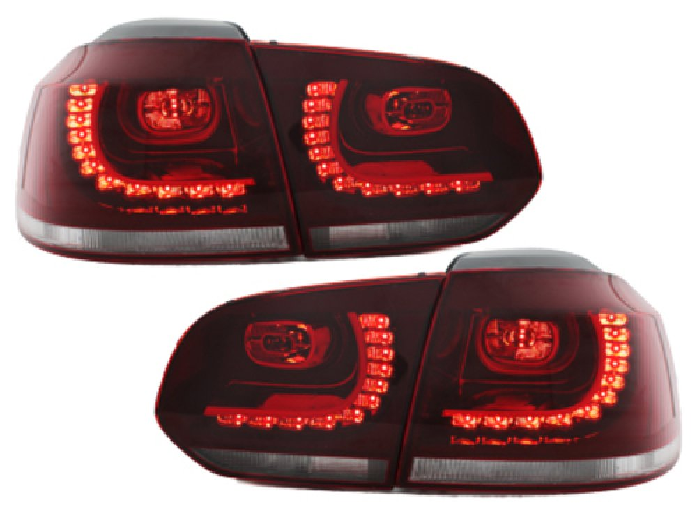 Задние фонари R-Look LED Red Crystal на Volkswagen Golf VI