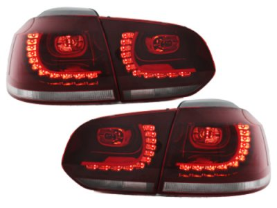 Задние фонари R-Look LED Red Crystal на Volkswagen Golf VI