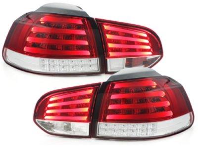 Задние фонари Neon LED Red Crystal на VW Golf VI