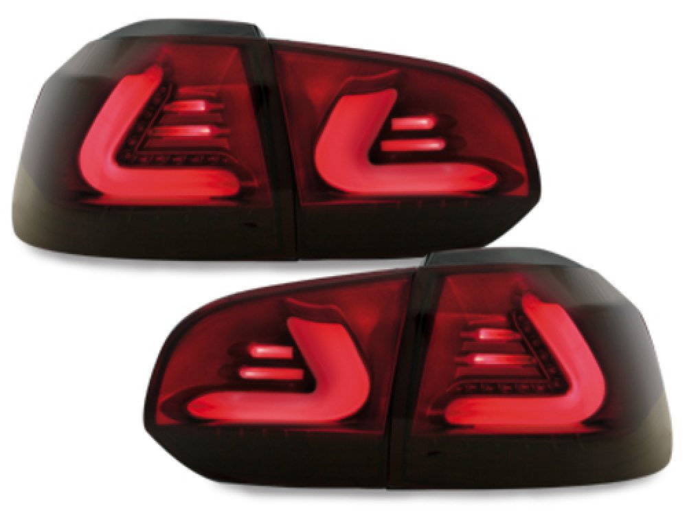 Задние фонари CarDNA LED Red Smoke на Volkswagen Golf VI