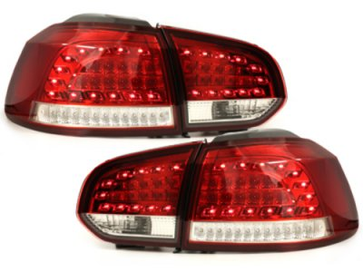 Задние фонари Litec LED Red Crystal на Volkswagen Golf VI