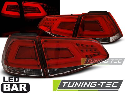 Задние фонари Neon Tube LED Red Crystal на Volkswagen Golf VII
