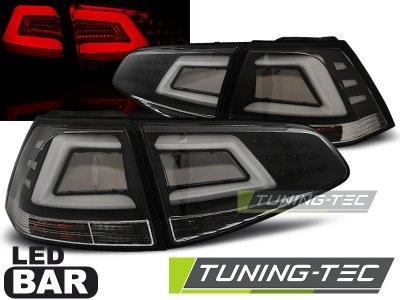 Задние фонари Neon Tube LED Black на Volkswagen Golf VII