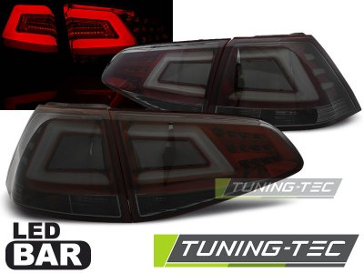 Задние фонари Neon Tube LED Red Smoke на Volkswagen Golf VII