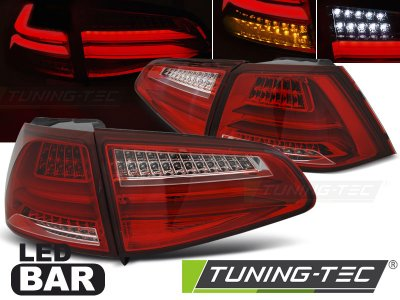 Задние фонари F-Look Full LED Red Crystal на Volkswagen Golf VII