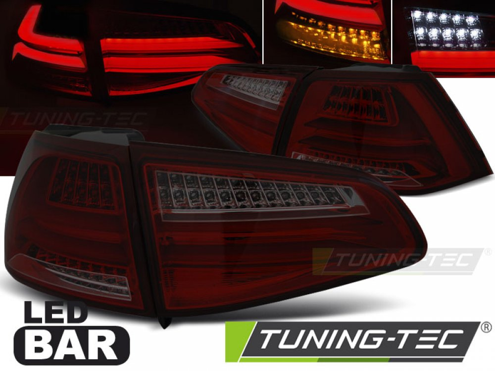 Задние фонари F-Look Full LED Red Smoke на Volkswagen Golf VII