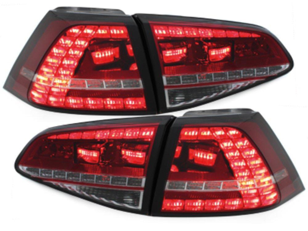 Задние фонари GTI Look LED Red Crystal на Volkswagen Golf VII