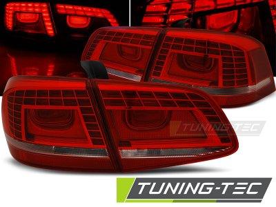 Задние фонари LED Red Crystal на Volkswagen Passat B7
