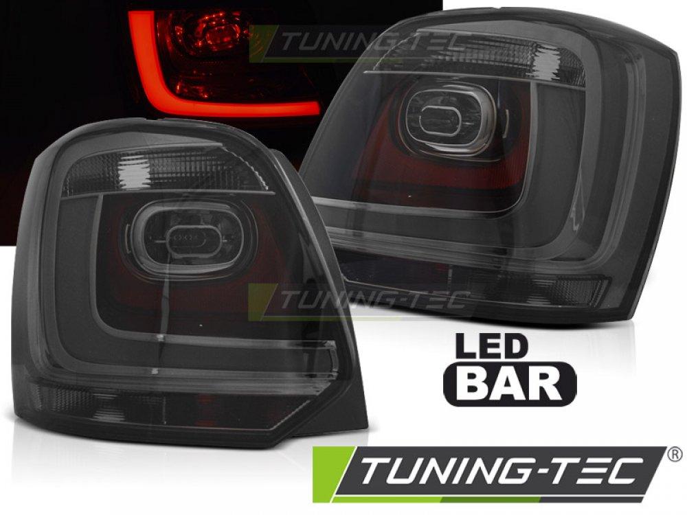 Задние светодиодные фонари тёмные на Volkswagen Polo 6R