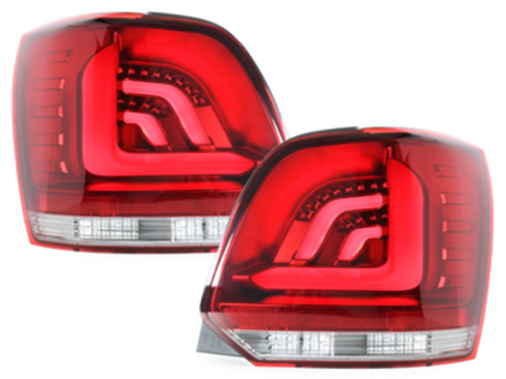 Задние фонари CarDNA LED Red Crystal на Volkswagen Polo 6R