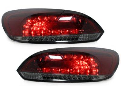 Задние фонари LED Red Smoke на Volkswagen Scirocco III