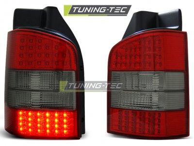 Задние фонари LED Red Smoke на VW Multivan / Caravelle T5