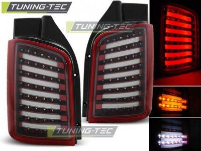 Задние фонари NeonTube Red Crystal на VW Multivan / Caravelle T5