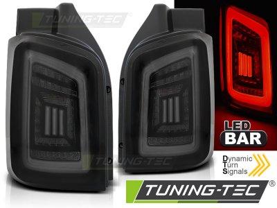 Задние фонари DynamicBar Black White Smoke на VW Multivan / Caravelle T5