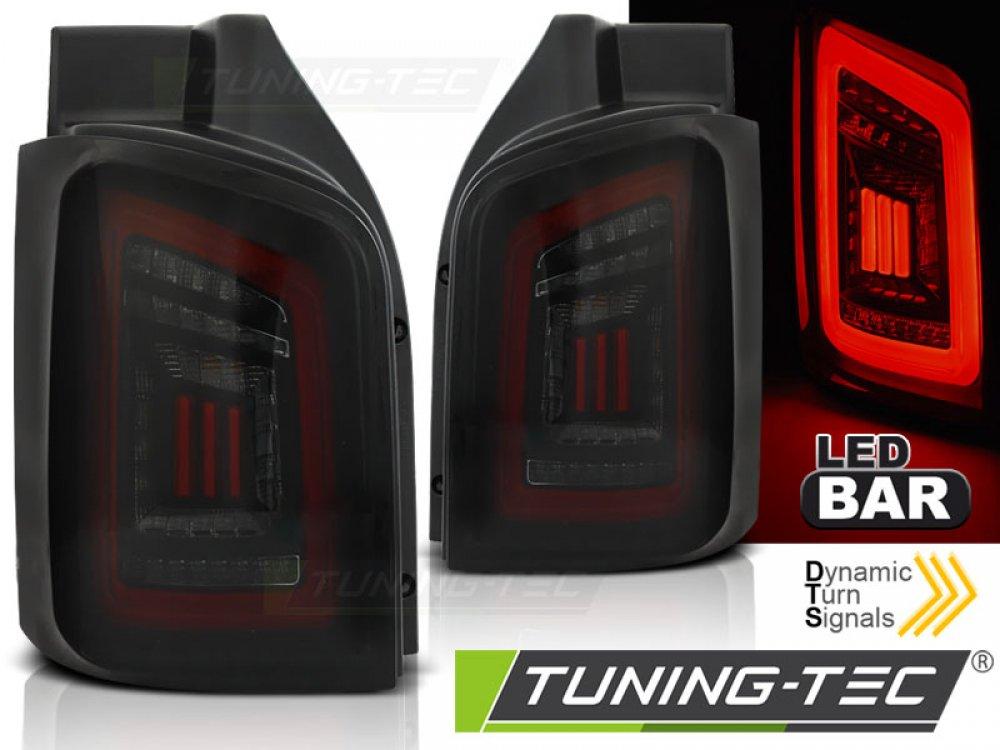 Задние фонари DynamicBar Black Red Smoke на VW Multivan / Caravelle T5