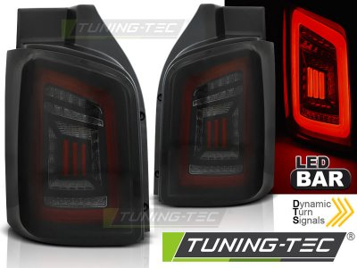 Задние фонари DynamicBar Black Red Smoke на VW Transporter T5