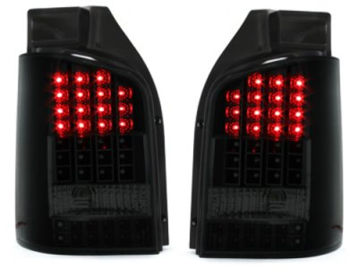 Задние фонари Full LED Black Smoke на Volkswagen Multivan / Caravelle T5