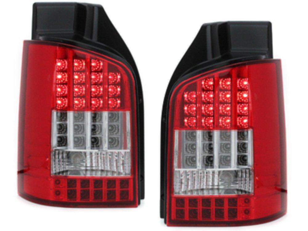 Задние фонари Full LED Red Crystal на Volkswagen Multivan / Caravelle T5