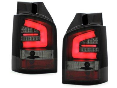 Задние фонари Neon Black Smoke на VW Multivan / Caravelle T5 рестайл